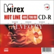 Диск CD-R  MirexHOTLINE 700Mb 48x Slim case 5 Pack
